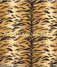 2M2B  ETHNIC CHIC WOVEN ANIMAL TIGER SKIN CHENILLE UPHOLSTERY FABRIC 5YARDS