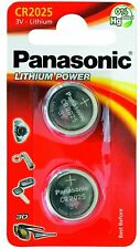 Panasonic 2 x CR2025 3v Lithium Coin Cell Car Key Fobs Toys Remote Batteries