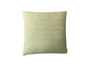 """Sage Green John Lewis woven fabric with embroidery Stripe cushion cover 18"""""""