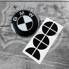 BMW Emblem Logo Aufkleber Ecken 20 mm z.B. für Motorrad schwarz glänzend