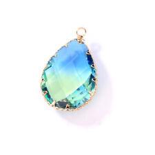 Crystal Glass Pendants Water Drop Necklace DIY Earrings Jewelry Findings Making#