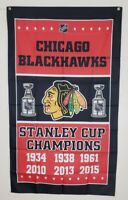 Chicago Blackhawks Banner 3x5 Ft Flag Stanley Cup Champions NHL Hockey Man Cave
