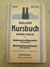VINTAGE 1928 29 Germany Railroad Train Schedule Book Public Timetables Fahrplan
