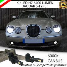 KIT FULL LED JAGUAR S-TYPE LAMPADE LED H7 6000K BIANCO GHIACCIO NO ERROR
