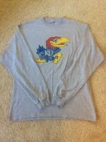 KU Kansas University Jayhawks Logo Long Sleeve T-Shirt Men's Large