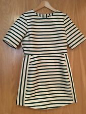 TopShop dress size 10, cream with bottle green stripes