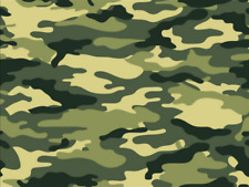 Green Army Camouflage Print Cake Topper Edible Wafer Paper Full A4 Sheet