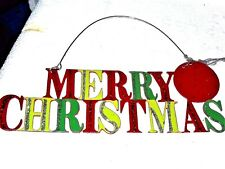 Merry Christmas Hanging plaque ornament Midwest Cannon Falls Christmas In July