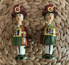 Victorian Painted Wooden Christmas Ornaments (Royal Guards?)