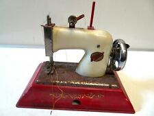 Vintage Tin Plate Sewing Machine . E.M.G Comet Made in England
