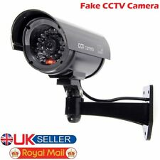 DUMMY FAKE DECOY CCTV SECURITY CAMERA WITH FLASHING LED OUTDOOR INDOOR NEW