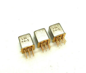 2 x Teledyne Relays 134 M4-5 DPDT HF Relais - NOS
