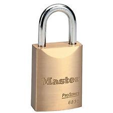 """Master Lock 6830 1-9/16"""" ProSeries Solid Brass Rekeyable Pin Tumbler Padlock"""