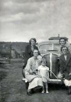 1930s Antique Car Automobile Pretty Women Vintage Photo Negative