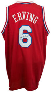 "Julius ""Dr. J"" Erving Signed Philadelphia 76ers Jersey (JSA COA) 11xNBA All Star"