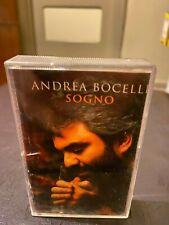 Andrea Bocelli Sogno cassette tape classical opera latin Italian pop HTF Polydor