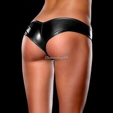Sexy METALLIC Shorts Panties Thong  BLACK Magaluf Ibiza Club Buy Now  UK STOCK