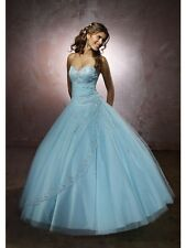 EUC Mori Lee Style 86023 Dress Girls Size 2 4 6 Sweet 16 Quiceanera Prom Blue