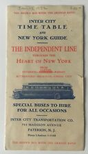 ca 1932 Vintage Independent Line Bus Motor Coach Timetable Nyc Paterson w/ ads