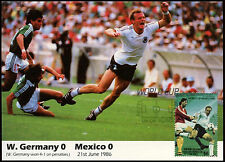 Football Maxicard 1986, West Germany V Mexico, Handstamped #C26427