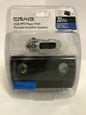 Craig 2GB MP3 Player With Portable Amplified Speaker  USB Battery Operated NEW