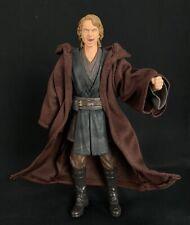 "PP-R-TN: Dark Brown Wired Jedi Fabric Robe for 6"" Star Wars Anakin (No Figure)"