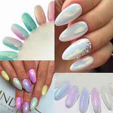 New 10ml White Glitter Nail Art Powder Mermaid Effect Dust Magic Nail Glimmer