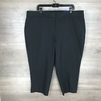 "APT. 9 Women's Size 20W Capri Mid-Rise Pants Black 24"" Inseam Hits Mid Calf NEW"