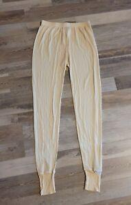 Thermasilk Terramar Vintage Ivory Silk Base Layer Thermal Pants, Women's Size M