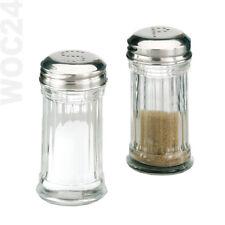 SET Salzstreuer Pfefferstreuer Glas-Edelstahl Salz Pfeffer Streuer