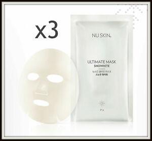(3 Sheets) Nu Skin Ultimate SNOWHITE Whitening Face Mask
