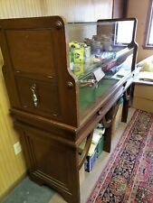 Display Case Vitrine - Mahogany and Glass - Locking doors- 2 levels- Humidor