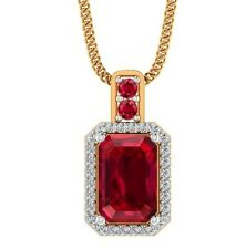 14k solid gold Genuine 0.15cts Untreated DIAMOND Ruby gemstone Pendant Jewelry