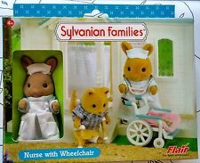New Flair Sylvanian Families Nurse with Wheelchair ~ Retired