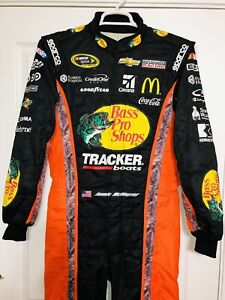 Jamie McMurray Bass Pro Shops Driver Firesuit Nascar Sparco Chevy Tracker Camo