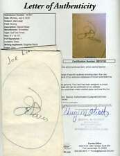 Joe Louis Jsa Autograph  Golf Pairing Sheet Hand Signed