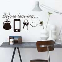New Removable Before Leaving Letter Wall Stickers Vinyl Decals Mural Home Decor