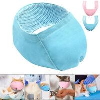 Nylon Cat Muzzle Mesh Padded Fabric Adjustable Gear No Bite Cat Mask Blue Pink