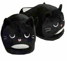 NOVELTY FELINE FINE BLACK CAT DESIGN HIGH QUALITY SOFT PLUSH SLIPPER SLIPPERS