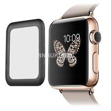BORDE BORDE negro completo Protector de Pantalla de Vidrio Templado para Apple Watch 42mm
