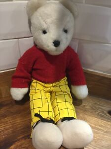 Vintage Express Newspapers Rupert Bear Plush Toy Teddy