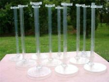 """NEW  CLEAR  AUTHENTIC MATTEL   """" BARBIE LOGO""""  10  DOLL STANDS LOT MINT"""