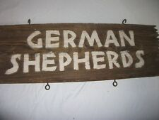 vintage german shepherd sign