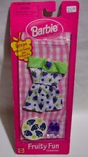 NIB-1999-BARBIE FRUITY FUN FASHION-PURPLE-GRAPE SCENTED CLOTHES & STICKERS