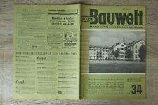 NEUE Bauwelt Zeitschrift Bauwesen Heft 34 20.8.1951 Architektur Wohnbaumethode