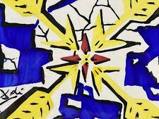 GROSSE 20x20cm KERAMIK FLIESE BY SALVADOR DALI 1954 NEUWERTIG UNBENUTZT PFEILE