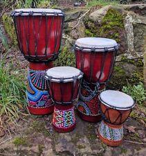 More details for djembe bongo drum hand painted 50cm, 40cm, 30cm, 20cm, 15cm & 12cm high