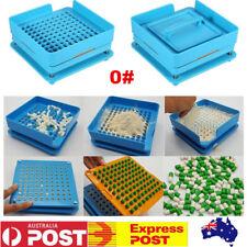 100 Holes Manual Capsule Filling Machine Empty Gel Cap Filler Flate 0# Tool Set
