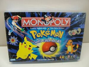 NEW SEALED 1999 HASBRO POKEMON MONOPOLY GAME COLLECTOR'S EDITION