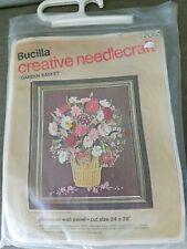 """Bucilla """"Garden Basket"""" Crewel Embroidery Kit"""